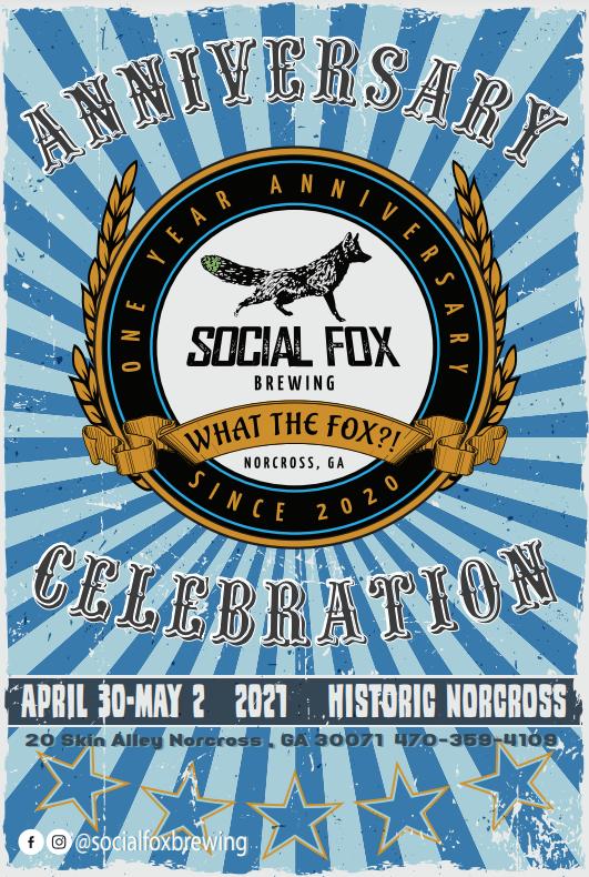 Social Fox 1 year Anniversary